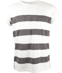 Indicode Herren T-Shirt Charcoal Mix Gestreift